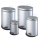Household Oval shaped brushed surface Pedal Bin PP plastic inner bucket waste bin trash can with lid