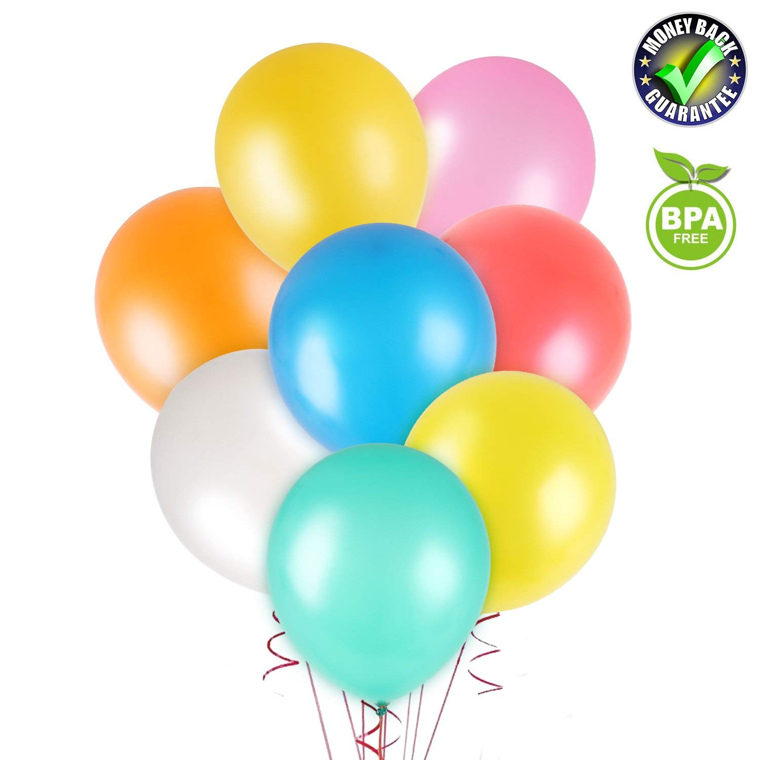 Balloons for Party, Rainbow Birthday Balloons 12 inch 100 pcs