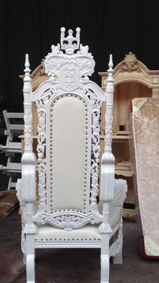 High Back Baroque King And Queen Throne King Chair