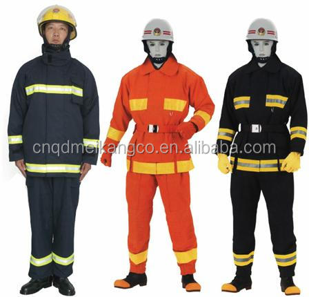 high quality low price EN469 aramid firefighter Fire suit