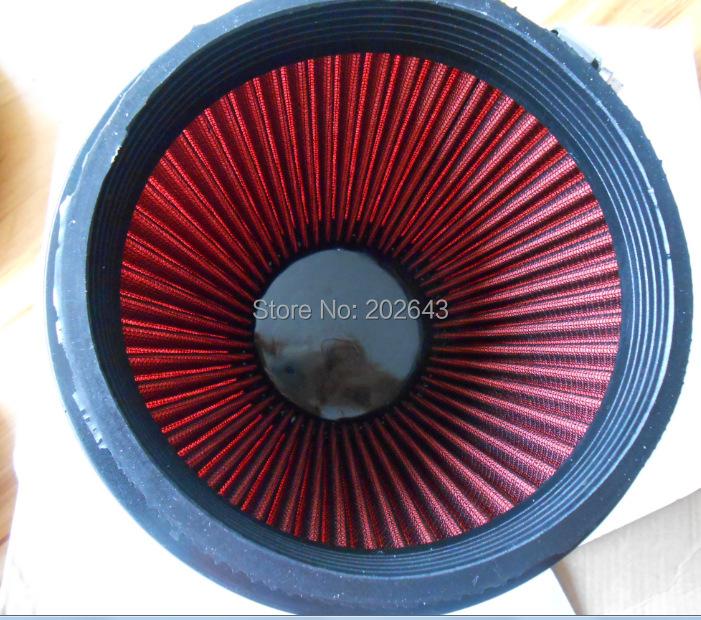 6 '' красный воздушный фильтр с 140 мм высота и скорость стек 3 '' / 3.5 '' / 4' универсальный для автомобиль воздуховходными фильтр турботаймер стайлинга автомобилей