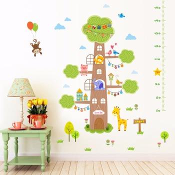 diy tree house animal world dropship wall sticker - buy dropship