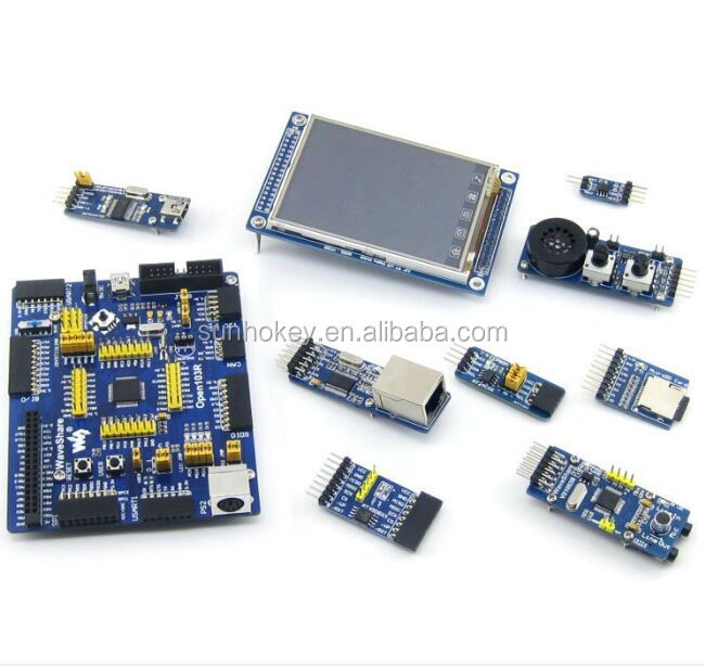 Open103R Package B STM32F103RCT6 STM32F103 STM32 ARM Cortex-M3 Development Board + 8pcs Accessory Modules