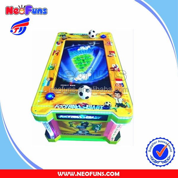 2016 New Arrivals Neofuns Arcade Soccer Table Machine With Video Games and Payout Ticket,Kids Enjoy Indoor Football Games