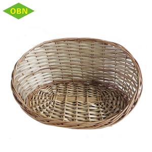 Cheap natural material rattan dog bed