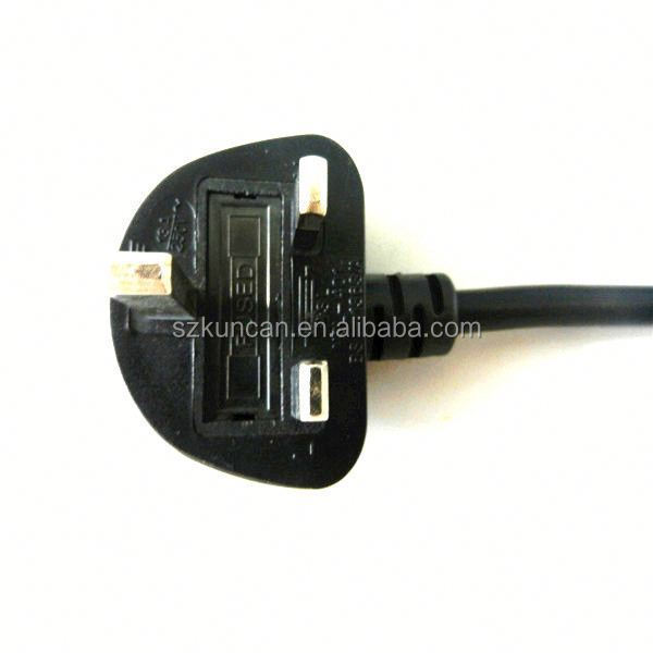 UK Standard Power Cord power plug with swith europe electric power on off switch