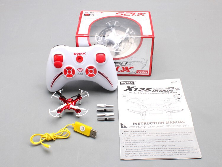 Syma X12S X12 4CH 6 Axis Remote Control Nano Quadcopter Mini Drone 2.4GHz With
