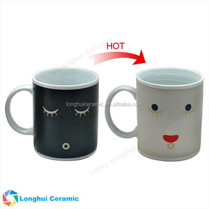 12oz Heat sensitive color changing ceramic magic mug for promotion gift
