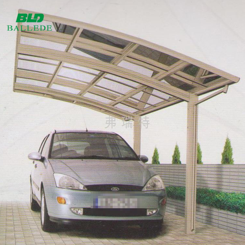 flat top roof modern carport with aluminum structure