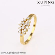 12697-xuping fashion gold plated jewelry diamond gold engagement ring