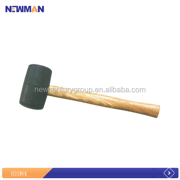 bottom price square wholesale high efficiency wood handle rubber mallet