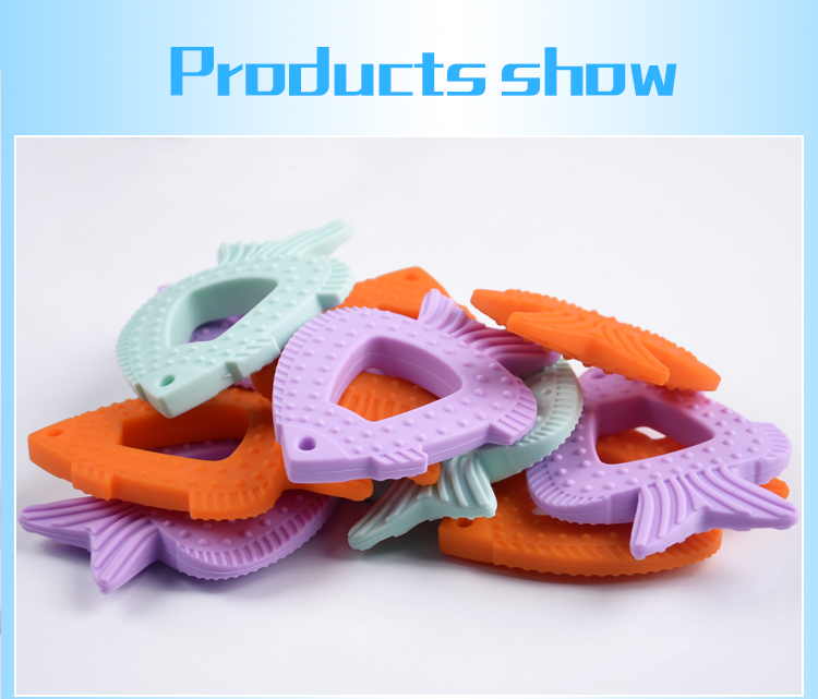 Custom Made Teeth Toys BPA Free Food Grade Silicone Baby Teether