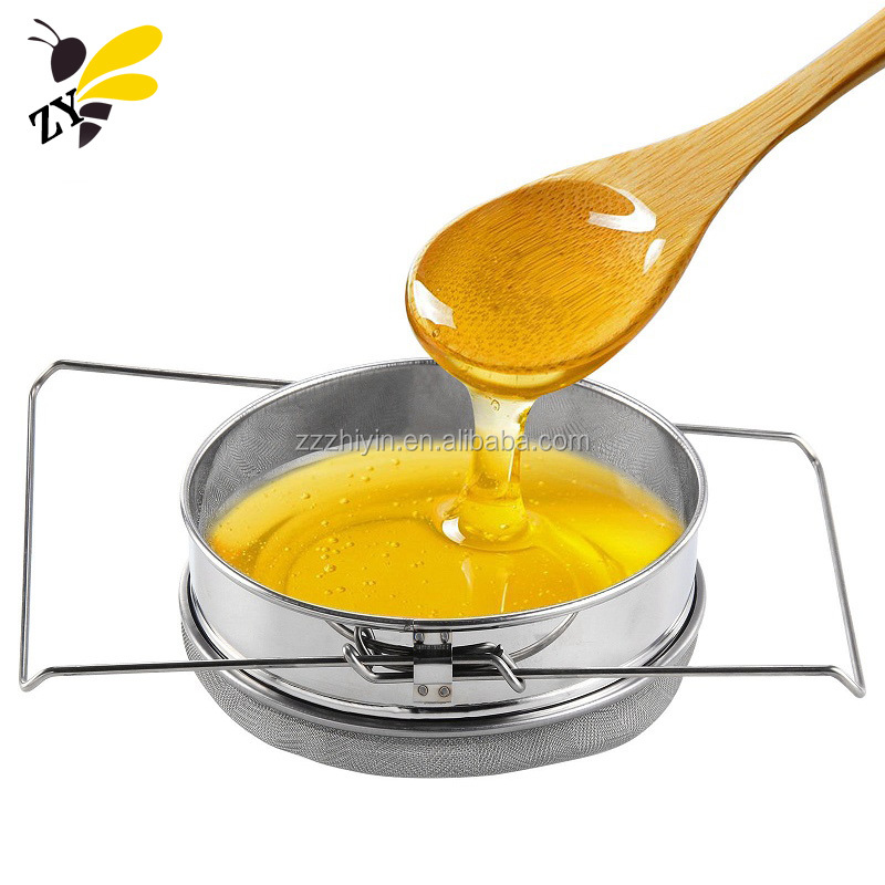 Bee keeping Equipments Triangle Honey Filter Stainless Steel Double Honey Strainer