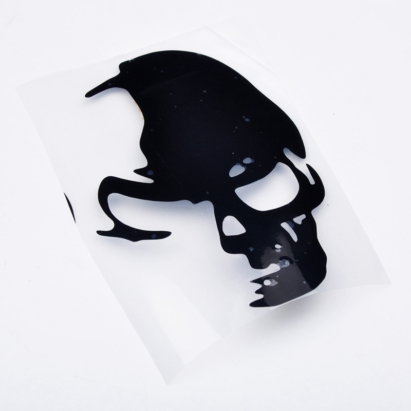 Factory Price 1PCS 8cm*12cm Cool Skull Car Reflective Stickers Funny And Creative Car Styling Car Decoration Decal zx*QP0052#s8