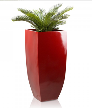 Amazing Cup And Garden And Saucer Red Ceramic Outdoor Planters