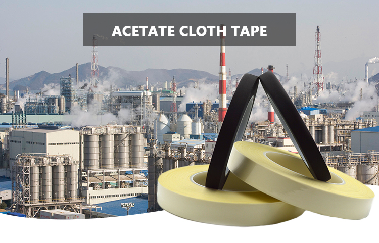 Easy To Tear Acetate Cloth Tape Fire Retardant Fabric Automotive Wire Harness Tape Black Acetate Tape