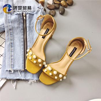 d321ab4ad1b6b1 9cm sandals women's heels shoes wrapped heel shoes fancy ladies chappal