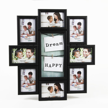 2018 New Product Wooden 12 Collage Frame Family Collage Picture
