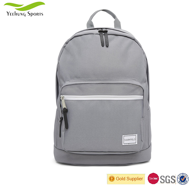 Trendy Grey Teenagers Backpack Rucksack School College Bag with Laptop Compartment Factory in China
