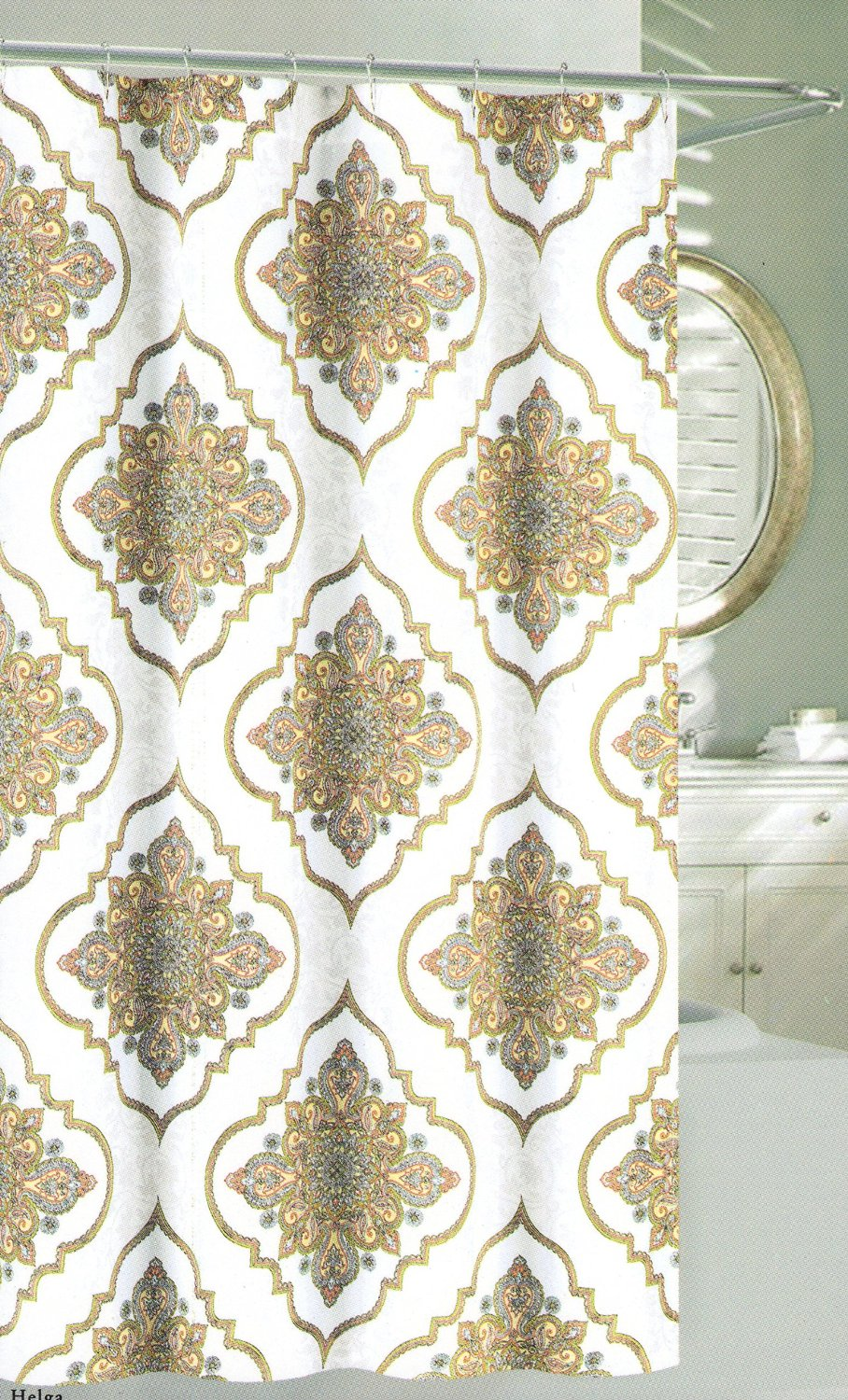 Get Quotations Nicole Miller Large Ornate Medallion Fabric Shower Curtain 72 Inch By