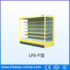 Supermarket commodity refrigerated display case of cakes