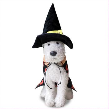 Perro gato Halloween capa mago Cosplay ropa con un sombrero para el partido 7d3f81a7594