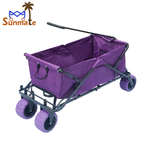Multifunction collapsible lightweight high capacity children cart foldable wagon