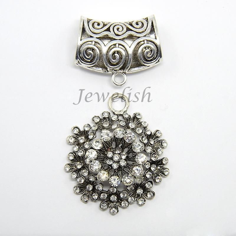 Cheap scarf pendant bail find scarf pendant bail deals on line at get quotations antique silver sparkle alloy rhinestone flower pendant scarf bail sets pendant 59x52x11mm hole aloadofball Choice Image