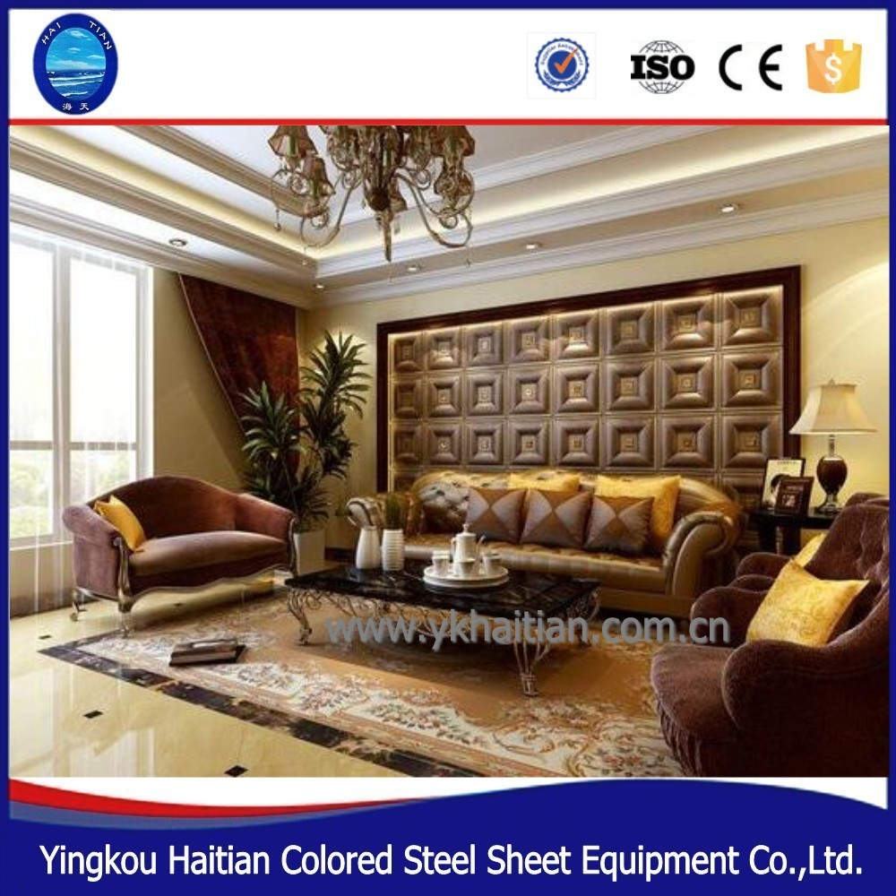 Chinese manufacturers to provide high quality at low price 3d ceiling tiles 3d leather panels 3d wall