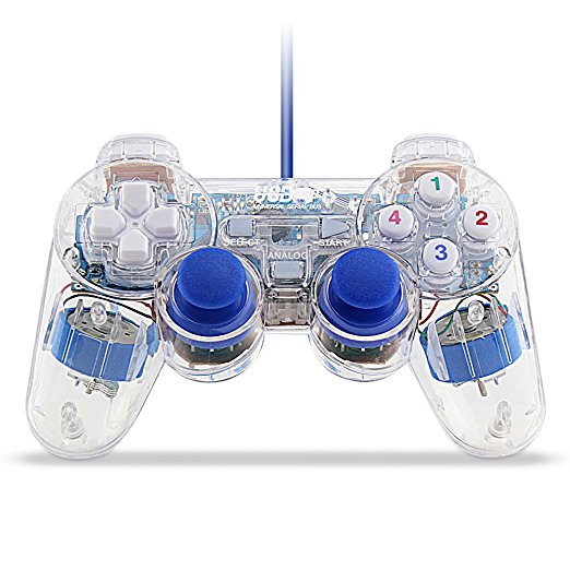 Play USB LED Wired Gaming Controller Gamepad For Video Game Console PC Laptop Windows