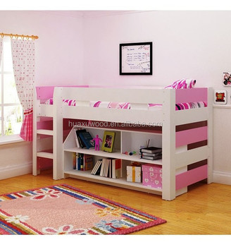 Good Quality Kids Bedroom Furniture,Child Wooden Bed With Storage And  Bookshelf - Buy Child Wooden Bed,Child Wooden Bed With Storage And ...