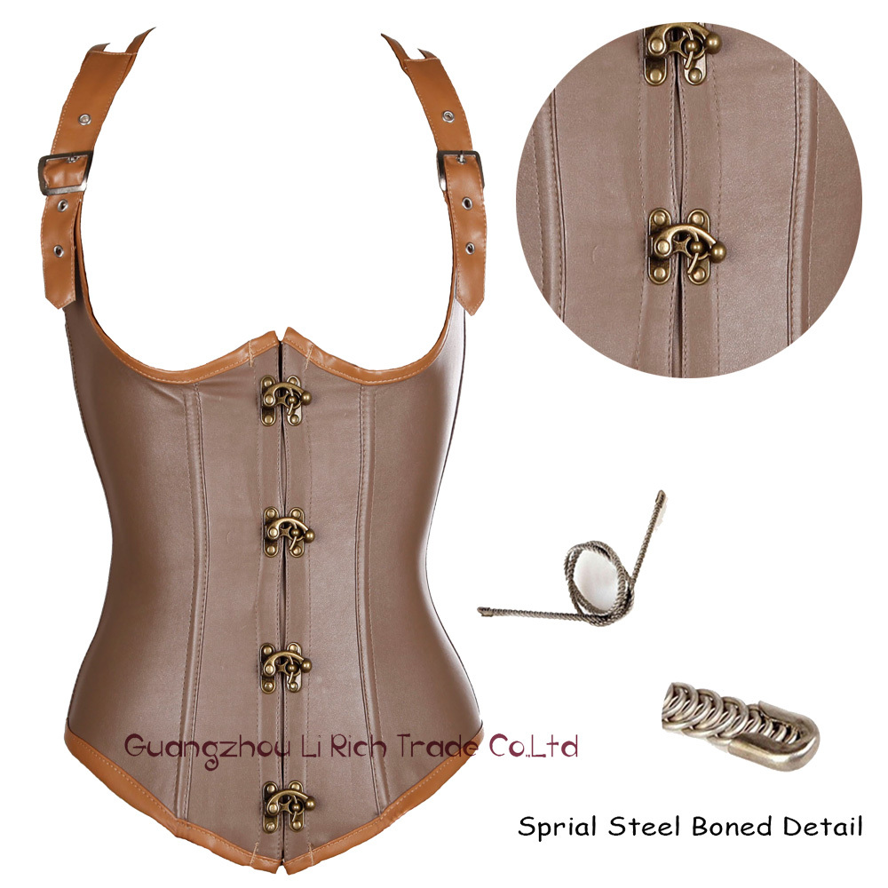 X 2015 New Summer Dress Steel boned Lace up Body Bustier Underbust Corset Sexy Women/Lady Size S M L XL-6XL