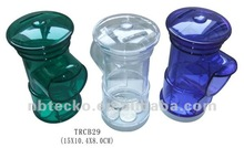 Hot selling fire cock shape plastic coin jar/money saving box