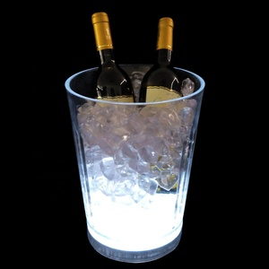 China supplier custom led plastic ice bucket beer portable electric wine cooler