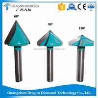 Carbide 3D cnc Router Bits 6mmx32mm ,60/90/120 degree 3D V Groove woodworking Router Bits