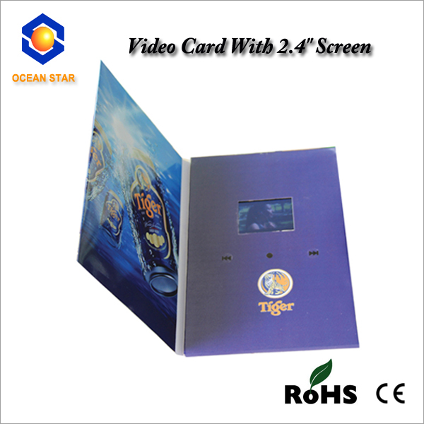 2.8 Inch Lcd Video Brochure Card with CE Rohs Certification
