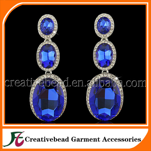 clear rhinestone crystal jewellry, wholesale rhinestone women earring