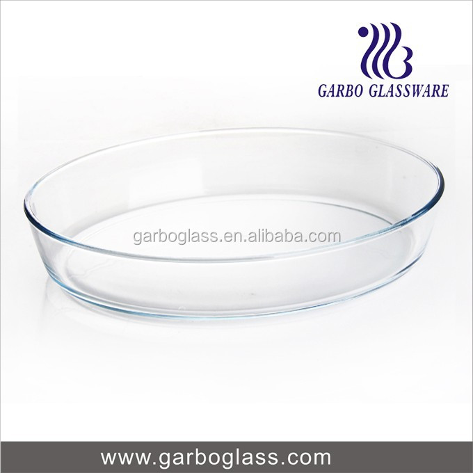 Machine Pressed oval borosilicate glass baking dish for Microwave oven and oven use//pyrex glassware