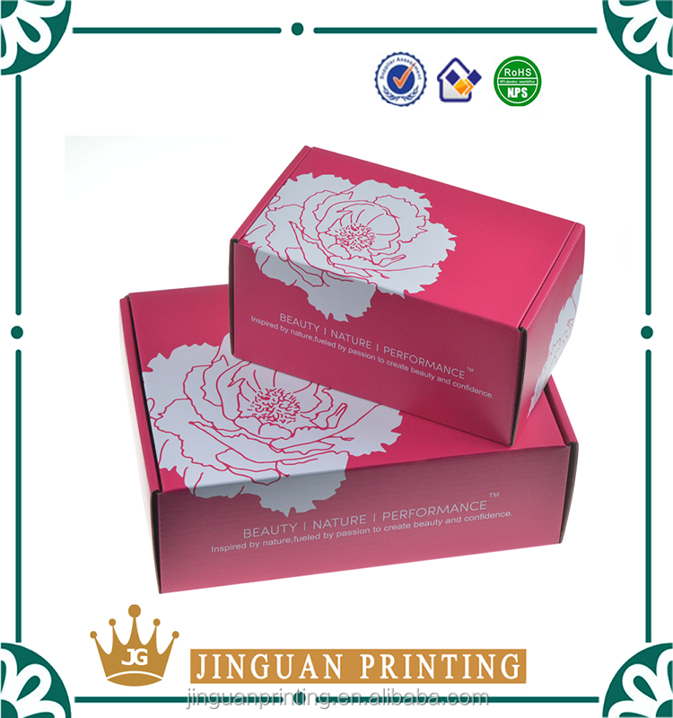 Custom logo printing folding corrugated packaging shipping / mailer box
