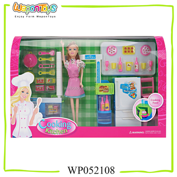 11 5 Inch Colorful Fashion Doll Kitchen Set Baby Girl Birthday Gifts
