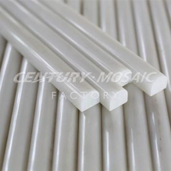Oriental White Marble Liner Bathroom Tile Trim