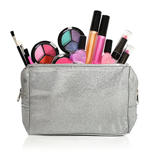 Kids Washable Makeup Set With A Glitter Cosmetic Bag makeup kits for girls cosmetic