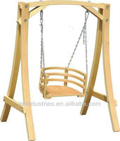Outdoor Kid's Patio Wooden Swing Chair