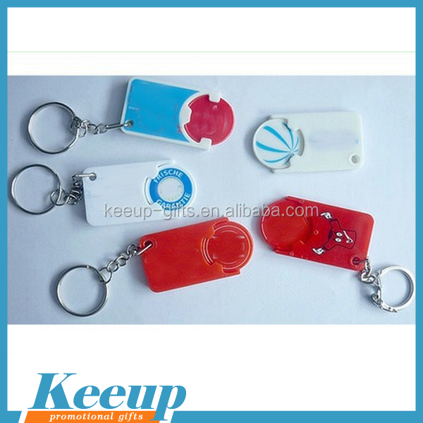 2016 Advertising Plastic Coin Keychain wholesale