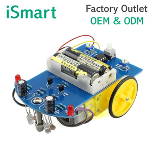 DIY Smart Tracing Robot Car Kit D2-1 DIY kit Intelligent Introductory Electronic Unassembled