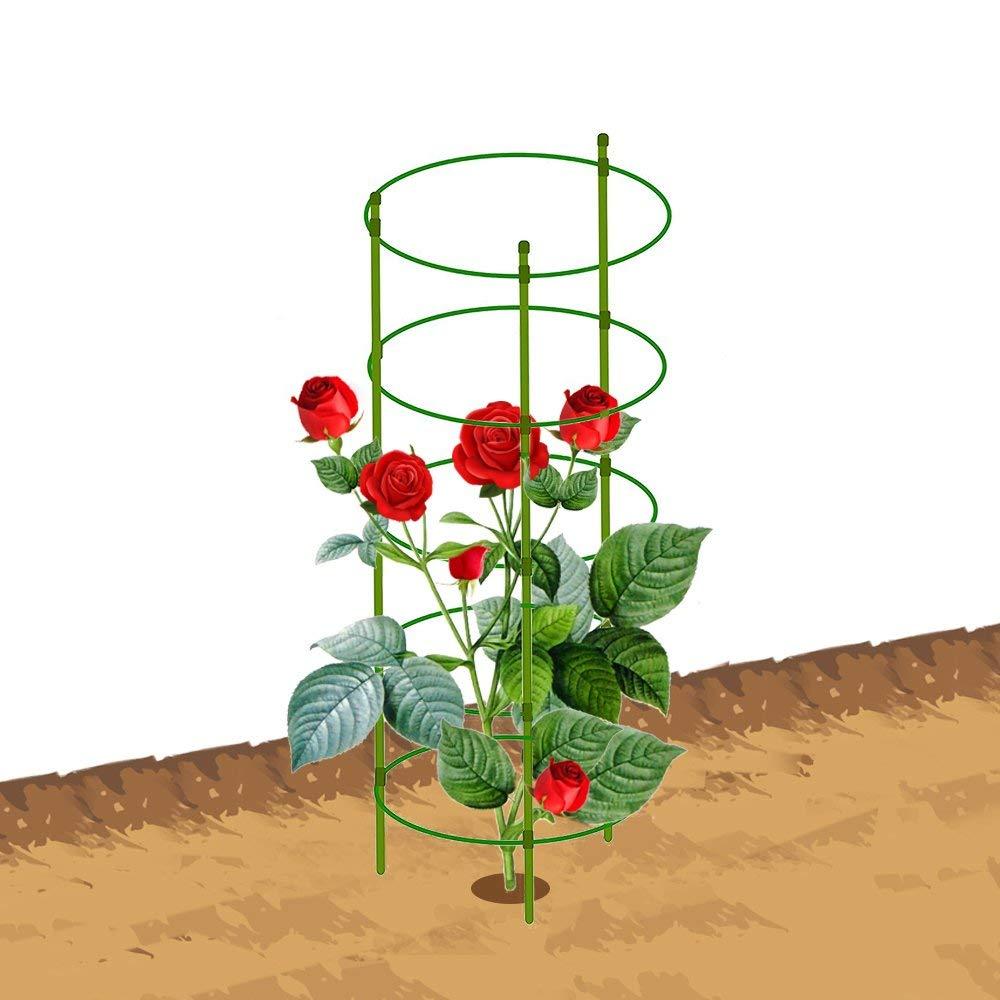 """Mr.Garden Plant Cage, Crab Cactus Trellis 5.9"""" Dia x 19.5"""" H, Green"""