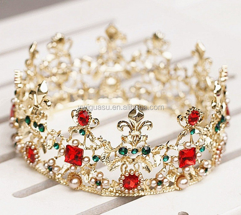 Hot Sale Romantic Bridal Wedding Hair Accessories Chain Gold Leaf Lace Flower Tocados tiara