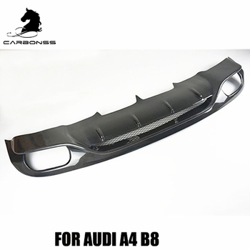 Fit For Audi A4 B8 Non Sline Carbon Fiber Rear Lip Diffuser Abt Type