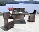 Antique royal style garden dining rattan tables set with umbrella hole and armchair big lots outdoor furniture