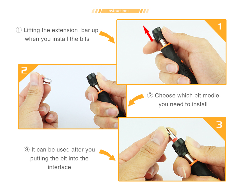 Hot Design plastic handles spares handy screwdriver